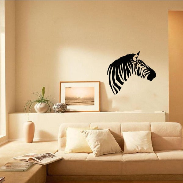 Zebra Head Animal Wall Vinyl Decal