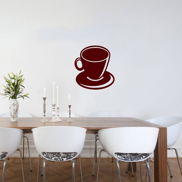 Brown Cup of Coffee Wall Vinyl Decal