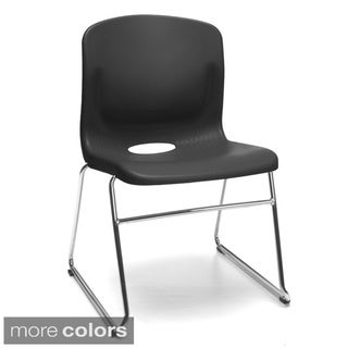 OFM Smart Series Chrome/ Plastic Chair (Pack of 4)