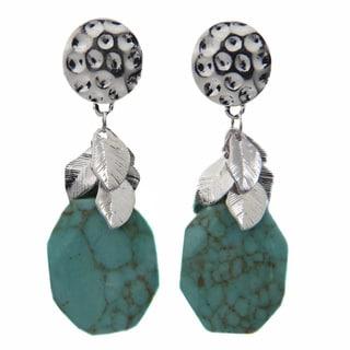 Living Spring Blue Rock Dangle Earrings