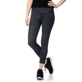 Teez-Her Women's Shapewear Faux Denim Capri Jeggings