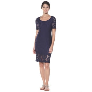 Anatomie Women's 'Lucia' Navy Lace Dress