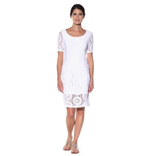 Anatomie Women's 'Lucia' White Lace Dress