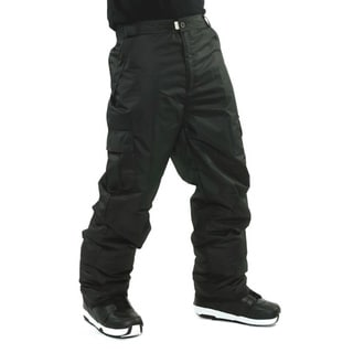 Pulse Men's 'Cargo' Black Snowboard Pants