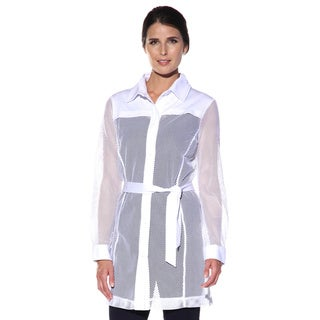 Anatomie Womens' 'Moni Cheri' White Sheer Jacket
