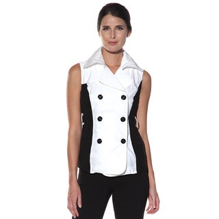 Anatomie 'Venicia' White and Black Double Breasted Vest