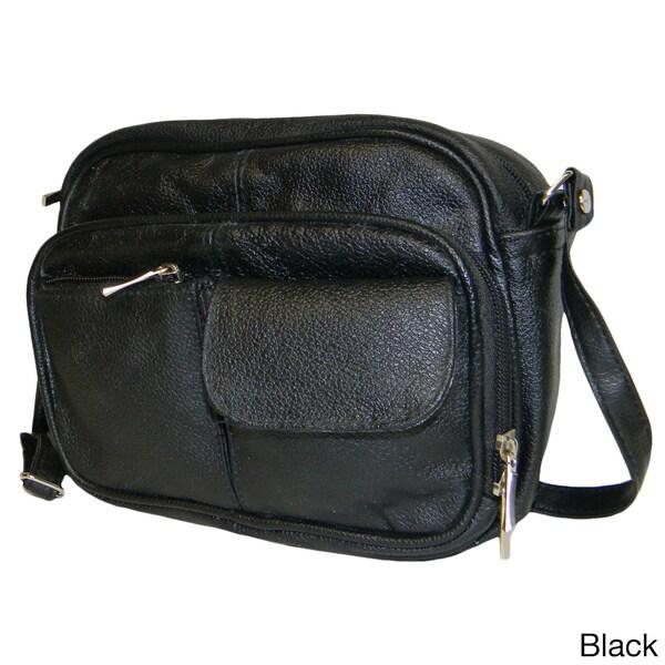 Hollywood Tag Cowhide Leather Multi-pocket Purse
