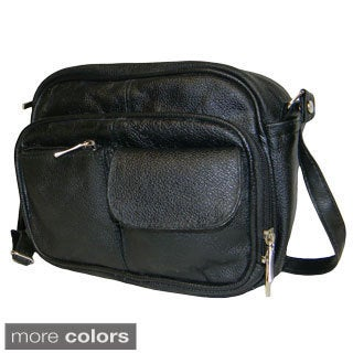 Hollywood Tag Cowhide Leather Multi-pocket Purse