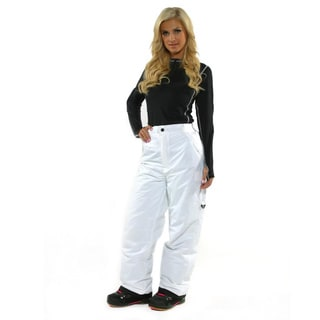Pulse Women's White Cargo Snowboard Pants