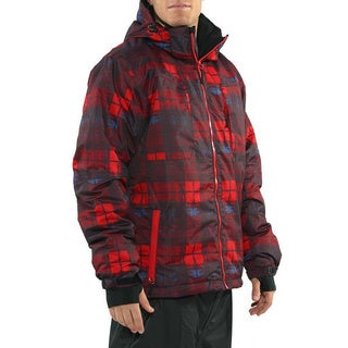 Pulse Men's 'Density' Red/ Charcoal Plaid Snowboard Jacket