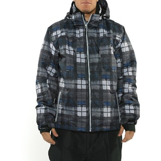 Pulse Men's 'Density' Grey/ Blue Plaid Snowboard