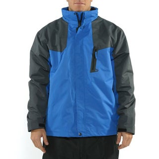 Pulse Men's 'Peak 2.0 Systems' True Blue/ Carbon 3-in-1 Snowboarding Jacket