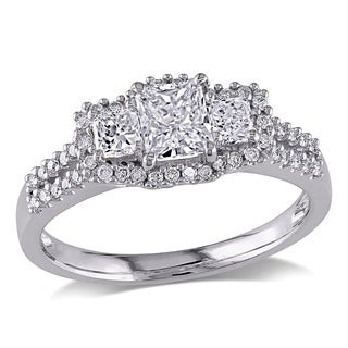 Miadora 14k White Gold 1ct TDW IGL-certified Diamond Ring (G-H, I1-I2)