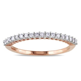 Miadora 14k Rose Gold 1/5ct TDW Diamond Anniversary Ring (G-H, I1-I2)