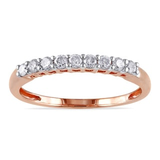 Miadora 14k Rose Gold 1/4ct TDW Diamond Anniversary Ring (G-H, I1-I2)