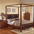 Sunny 3-piece Honey Oak Upholstered Bed Set