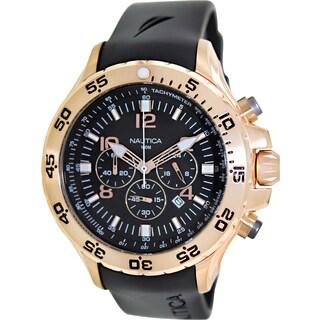 Nautica Men's Sport Black Resin Quartz Watch