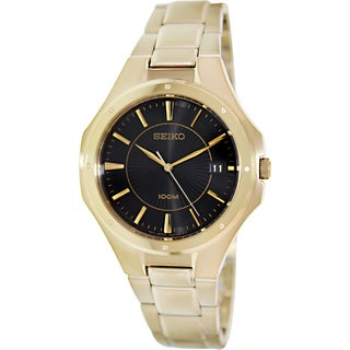 Seiko Men's Gold-Tone Stainless Steel Quartz Watch