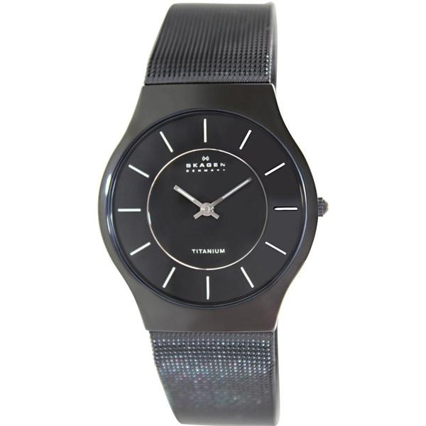 Skagen Men's Black Titanium Quartz Watch