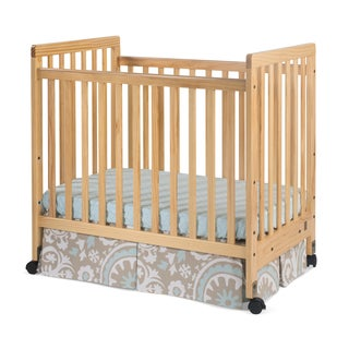 Foundations Bentley Euro Mini Slatted Crib in Natural