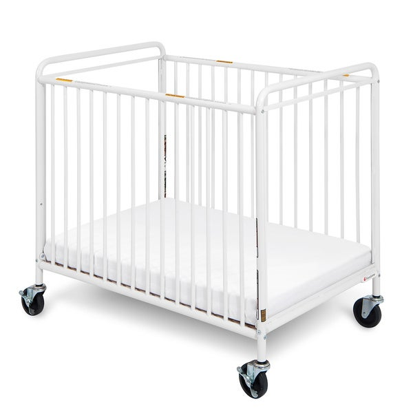 Foundations Chelsea Euro Clear Choice Mini Crib in White