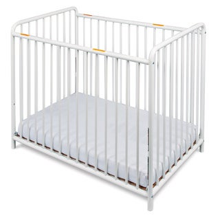 Foundations Chelsea Euro Slatted Mini Crib in White