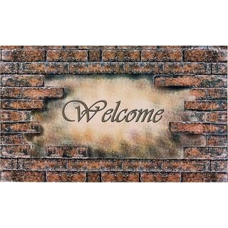 Achim Welcome Bricks Outdoor Rubber Entrance Mat (1.5' x 2.5)