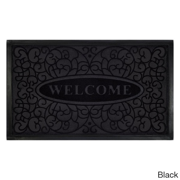Swirl Recycled Rubber Welcome Mat (18 x 30-inch)