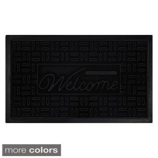 Parquet Recycled Rubber Welcome Mat (18 x 30-inch)