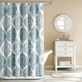 Abigail Modern Paisley Cotton Shower Curtain
