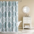 Abigail Modern Paisley Cotton Shower Curtain
