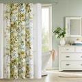 Briella Botanical Floral Cotton Shower Curtain