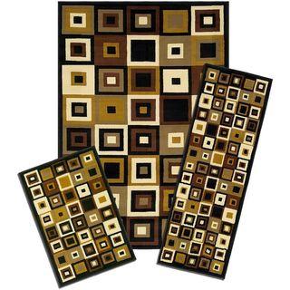 Capri Southwest Tiles 3-piece Rug Set