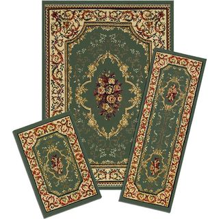 Capri Rose Garden 3-piece Rug Set