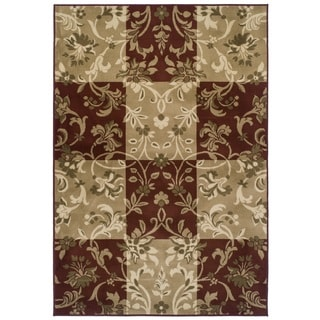 Easton Collection Checker Vines Area Rug
