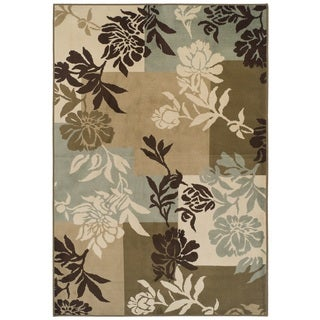 Easton Collection Floral Boxes Area Rug