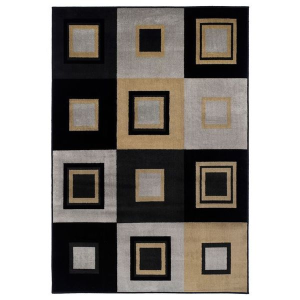 Easton Collection Squares Area Rug
