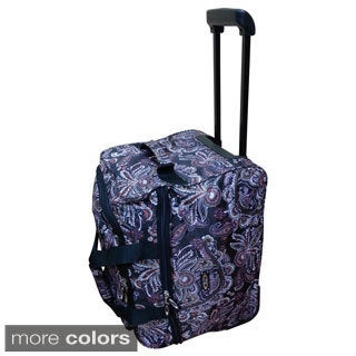 Kemyer Paisley 18-inch Rolling Carry-on Duffel Tote