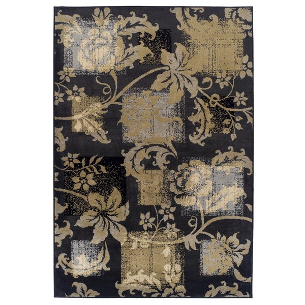 Easton Collection Etched Poppies Area Rug