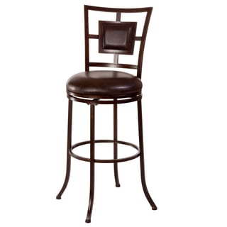 'Foxholm' Dark Brown and Copper Counter/ Bar Stool