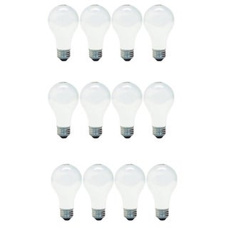 GE '13257' 4-pack 40-Watt Soft White A19-base Light Bulbs (Set of 12)