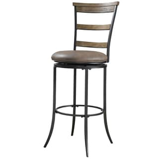 Lyman Rustic Oak Finish Stool 16000842 Overstock Com