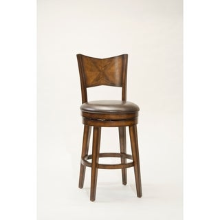 'Jenkins' Rustic Oak Swivel Stool