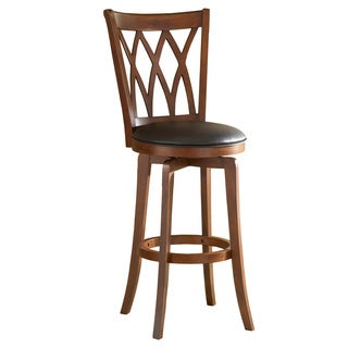 'Mansfield' Brown Cherry Criss-cross Back Stool