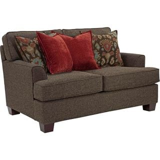 Westport Walnut Upholstered Loveseat
