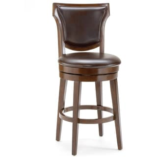 'Country Heights' Rustic Cherry Contoured Back Stool