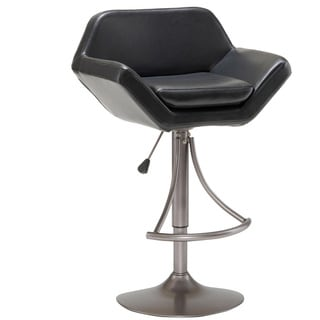 Valencia Oyster Grey Finish Adjustable Bar Stool