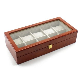 Heiden Premier Burlwood Extra Wide Watch Box