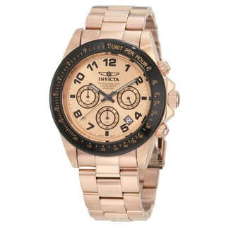 Invicta Men's 'Speedway' 18k Rose Gold-Plated Chronograph Watch