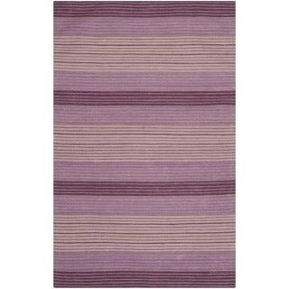 Safavieh Hand-woven Marbella Lilac Wool Rug (5' x 8')